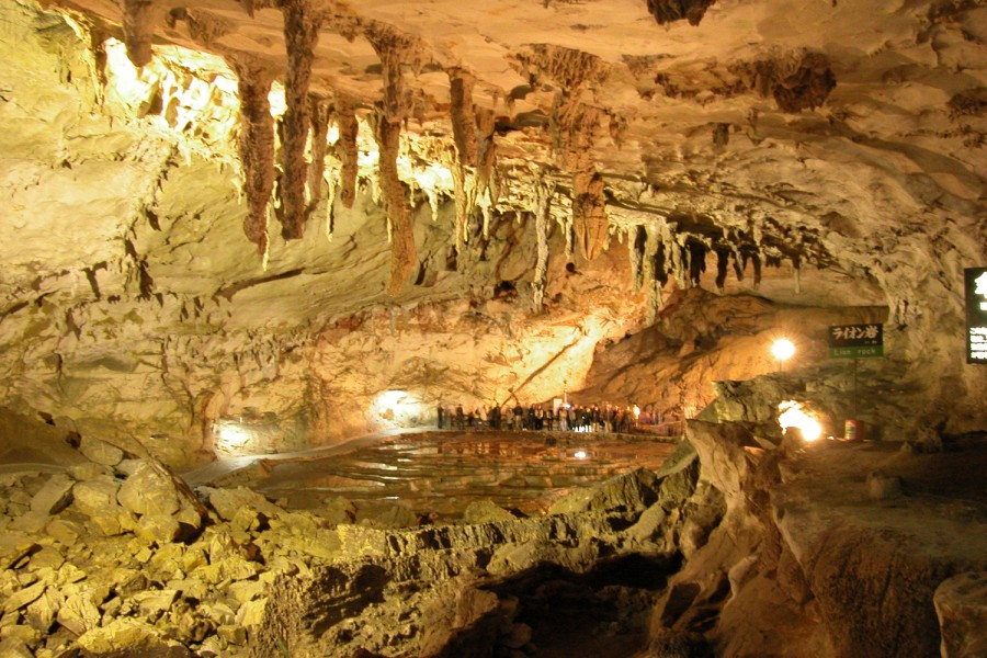 The Orient's largest limestone cavern boasting naturally created art ...