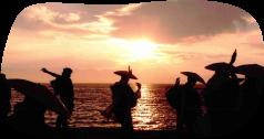 白石島の海と夕日