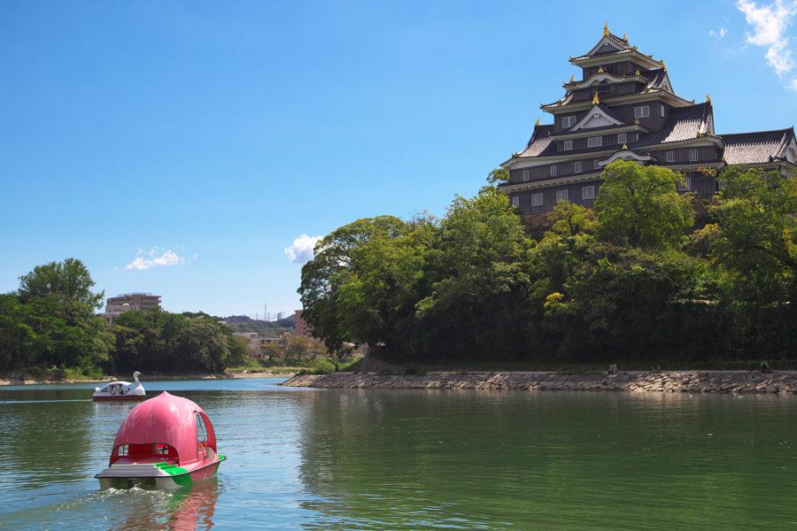 岡山城_桃ボート1